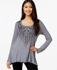 Miraclesuit Long Sleeve Beaded Top Excalibur