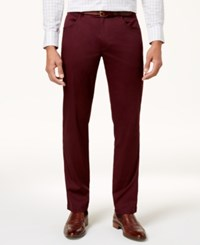 Inc International Concepts Men's Deep Black Stretch Pants Created For Macy's Wine