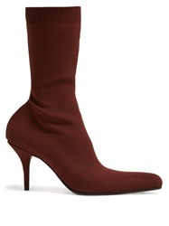 Balenciaga Round Sock Booties Red