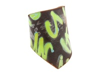 Leather Couture By Jessica Galindo Alphabetum Freeform Cuff Graffiti Lime Green Bracelet