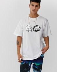 Cheap Monday Speech Logo T Shirt White