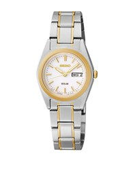 Seiko Functional Solar Two Tone Stainless Steel Bracelet Watch
