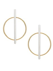 Egrey Geometric Single Earring Metallic
