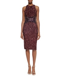Pamella Roland Ombre Allover Sequined Racerback Dress