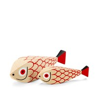 Vitra Alexander Girard 1952 Wooden Doll Fish Red