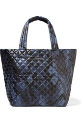 M Z Wallace Mz Metro Camouflage Print Quilted Shell Tote Storm Blue