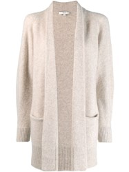Vince Open Front Knit Cardi Coat Neutrals