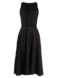 Emilio De La Morena Kilimanjaro Textured Cotton Dress Black