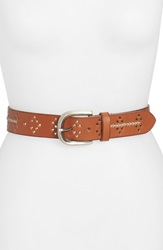 Lucky Brand Cutout Leather Belt Saddle