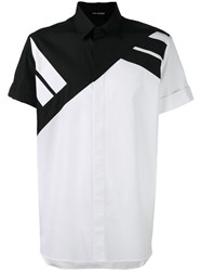 Neil Barrett Striped Short Sleeve Shirt White