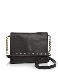 Longchamp Paris Rocks Medium Crossbody Black Gold