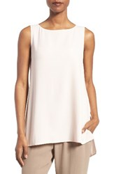 Eileen Fisher Women's Long Bateau Neck Silk Shell