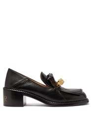 Gucci Dora Leather Heeled Loafers Black