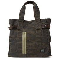 Porter Yoshida And Co. Overdyed Tiger Camo Two Way Tote