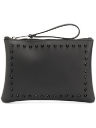 Gum Stud Detailed Clutch Bag Black