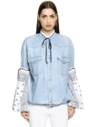 Forte Couture Cotton Denim And Bandana Jacket