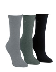 Calvin Klein Roll Top Socks Grey