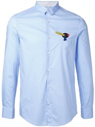 Iceberg Logo Patch Shirt Blue