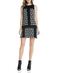 Karen Kane Go Go Ikat Shift Dress Jacquard