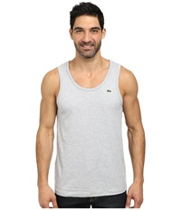 Lacoste Cotton Jersey Tank Top Silver Grey Chine Men's Sleeveless Gray