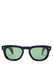Jacques Marie Mage The Pepper D Frame Acetate Sunglasses Black