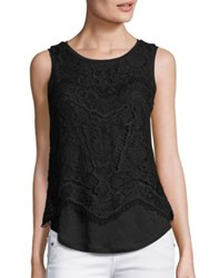 Generation Love Celine Layered Lace Tank Top Black