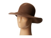 Hat Attack Wool Felt Round Crown W Leather Bound Edge Brown Brown Traditional Hats