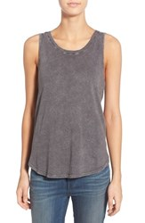 Women's Treasure And Bond Cutout Back High Low Tank Grey Combo