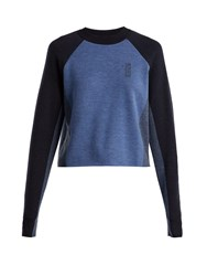 Lndr Snug Colour Blocked Merino Wool Sweater Blue