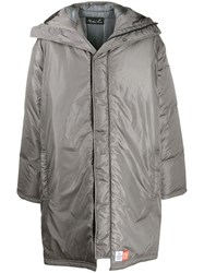 Martine Rose Hooded Padded Coat Grey