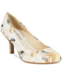 Easy Street Shoes Easy Street Passion Pumps Women's Shoes Beige Feather Print