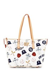 Dooney And Bourke Padres Zip Top Shopper White