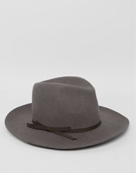 Brixton Fedora Hat York Grey