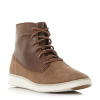 Ugg Lamont Lace Up White Sole Boots Tan
