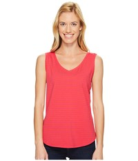 Royal Robbins Active Essential Stripe Tank Top Punch Women's Sleeveless Pink