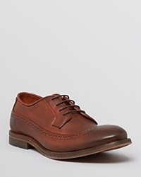 Hudson H By Elford Burnished Leather Wingtip Oxfords Brown