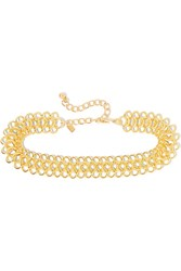 Kenneth Jay Lane Gold Plated Choker One Size