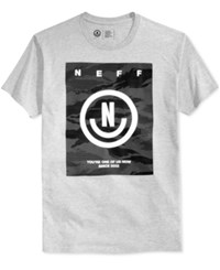 Neff Men's Graphic Print T Shirt Athletic Heather