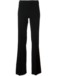 Giambattista Valli Lateral Zip Flared Trousers Black