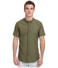 Publish Dingo Short Sleeve Oxford Shirt Olive Men's Short Sleeve Button Up