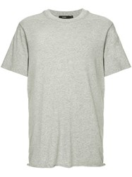 Bassike Crew Neck T Shirt Grey
