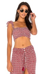 Tiare Hawaii Hollie Top In Red. Sleet Maroon