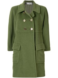 Yves Saint Laurent Vintage Double Breasted Coat Green