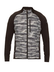 Peak Performance Helium Printed Down Filled Hooded Jacket Grey Multi
