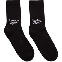 Reebok Classics Three Pack Black Crew Socks