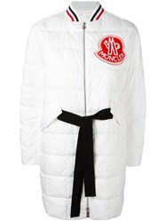 Moncler Gamme Rouge Padded Parka White
