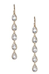 Melinda Maria 14K Gold Plated Sterling Silver Leaf Drop Earrings Metallic