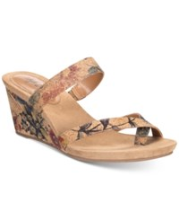 Styleandco. Style Co Madelaa Slip On Wedge Sandals Floral Cork