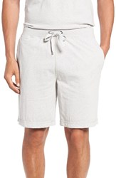 Daniel Buchler Men's Recycled Cotton Blend Lounge Shorts Grey