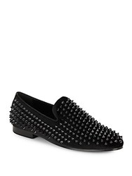 Saks Fifth Avenue Ronald Studded Loafers Black